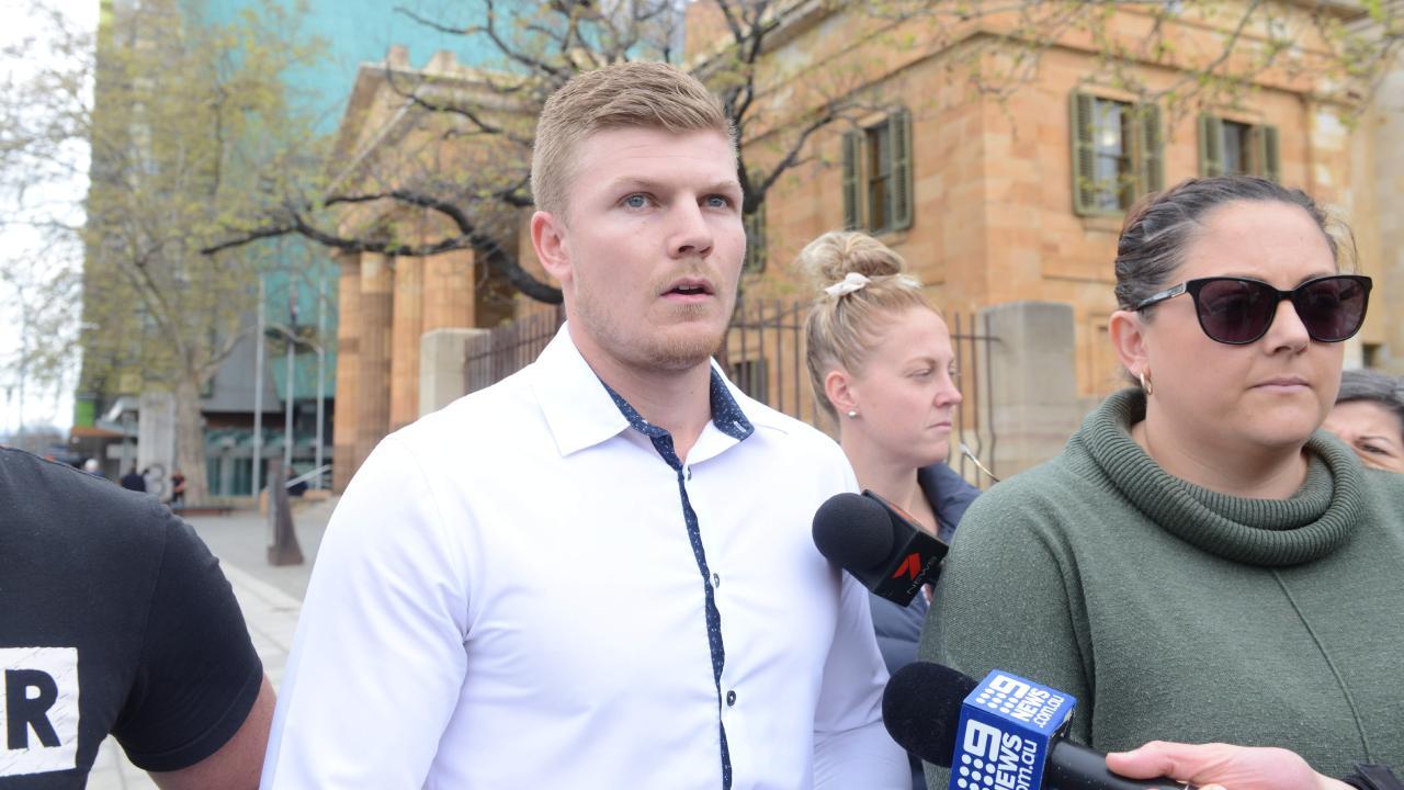 Josh Glenn outside the Adelaide Magistrates Court in September last year. Picture: Brenton Edwards/AAP