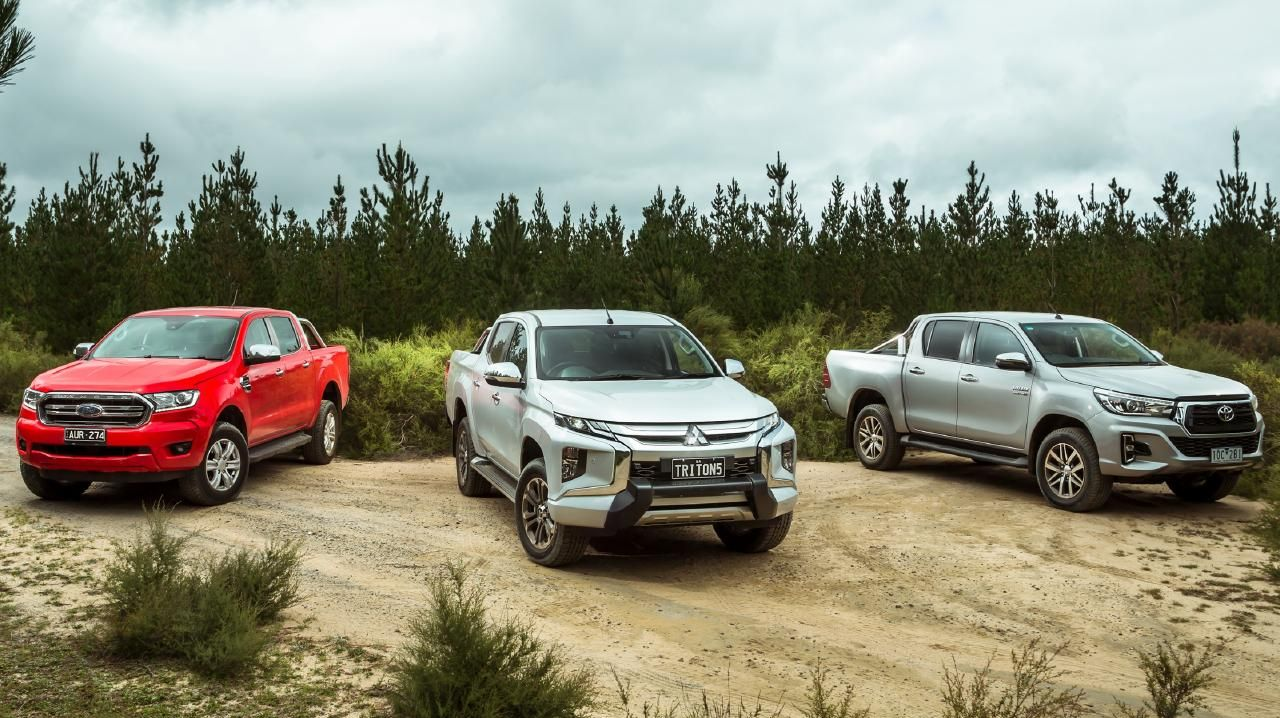 Ford Ranger, Mitsubishi Triton and Toyota HiLux