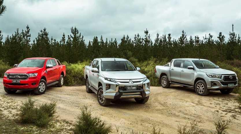 Ford Ranger, Mitsubishi Triton and Toyota HiLux