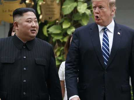 North Korea has given a very different version of events to the one presented by the United States after the summit between Donald Trump and Kim Jong-un ended without an agreement. Picture: AP Photo/Evan Vucci