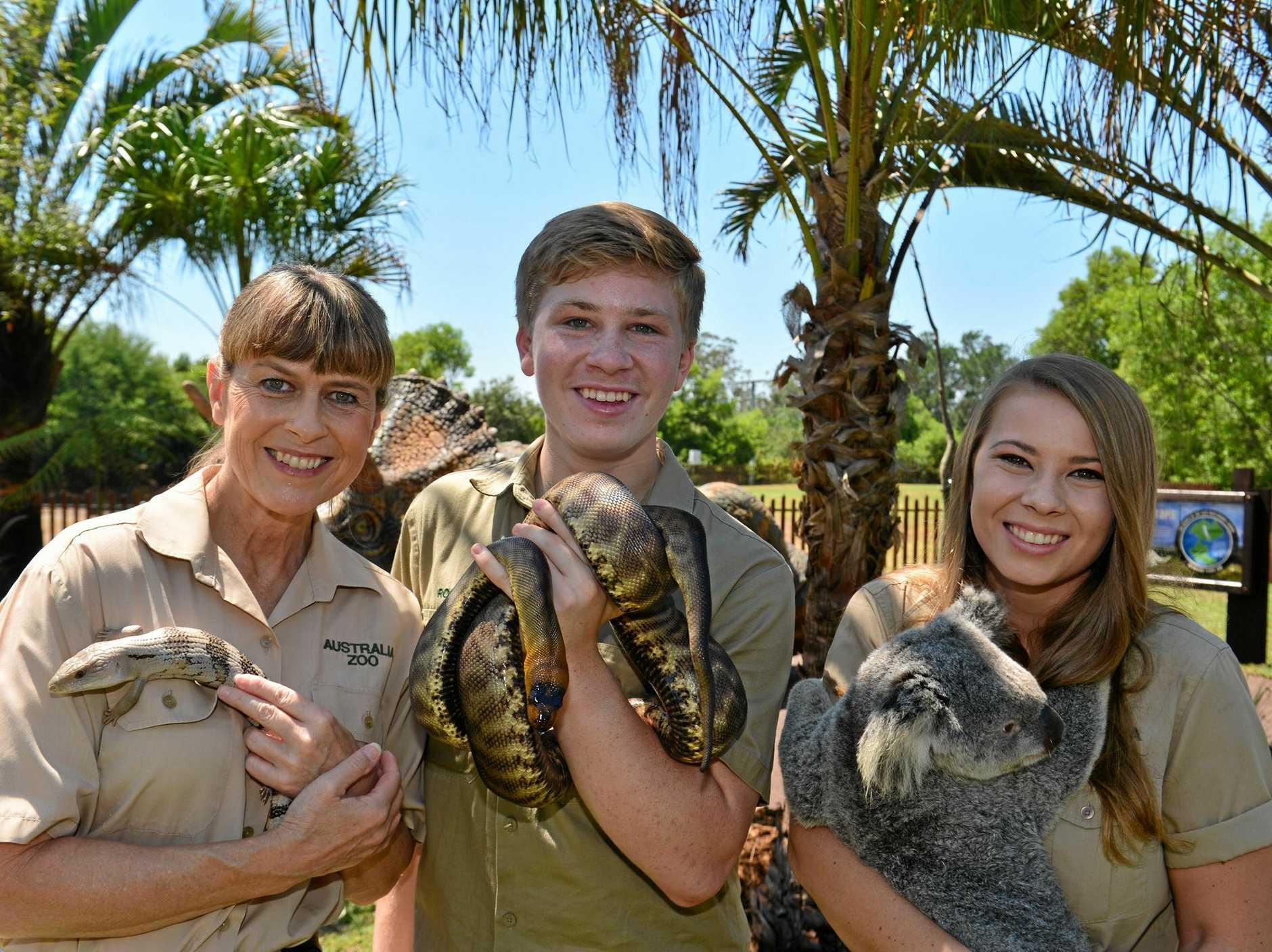 Terri, Robert and Bindi Irwin have been honoured with the Australian Tourism Legend Award.