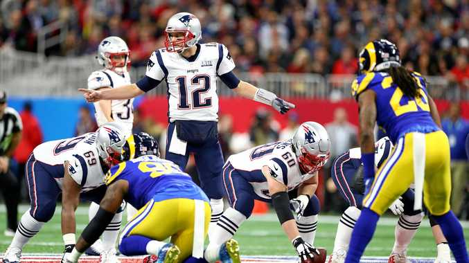 The New England Patriots' Tom Brady calls a play during Super Bowl LIII against the Los Angeles Rams on February 3 in Atlanta.  Picture: Maddie Meyer/Getty Images