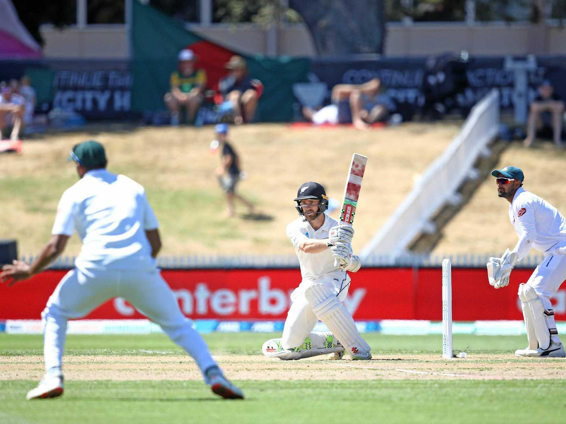 New Zealand skipper Kane Williamson in control on day three of the first Test against Bangladesh at Seddon Park, Hamilton. Picture: Phil Walter/Getty Images