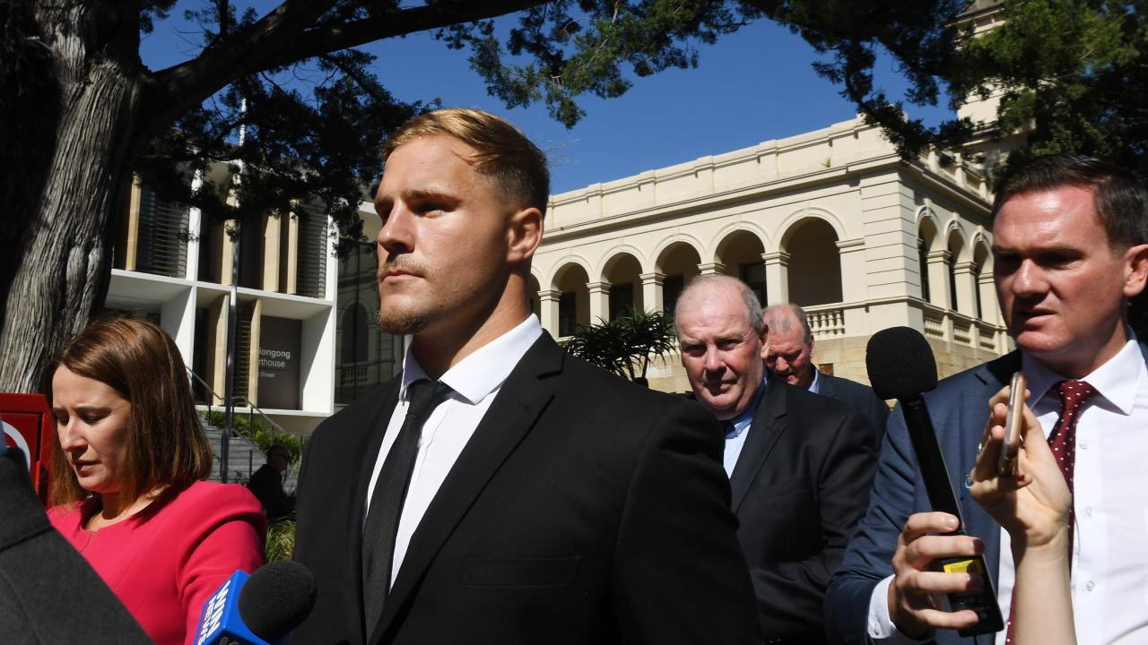 St. George Illawarra Dragons player Jack de Belin is facing serious sexual assault charges. Picture: AAP