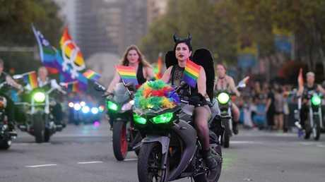 Happy Mardi Gras! Picture: Tracey Nearmy/Sunday Telegraph