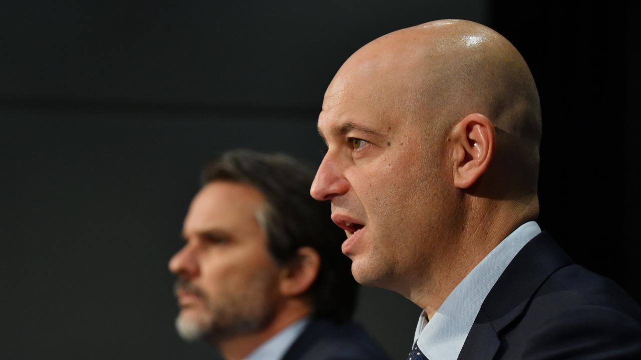 NRL CEO Todd Greenberg had a busy week handing out sanctions to various players for off-field indiscretions. Picture: AAP