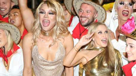 Kylie Minogue made a surprise appearance. Picture: Damian Shaw