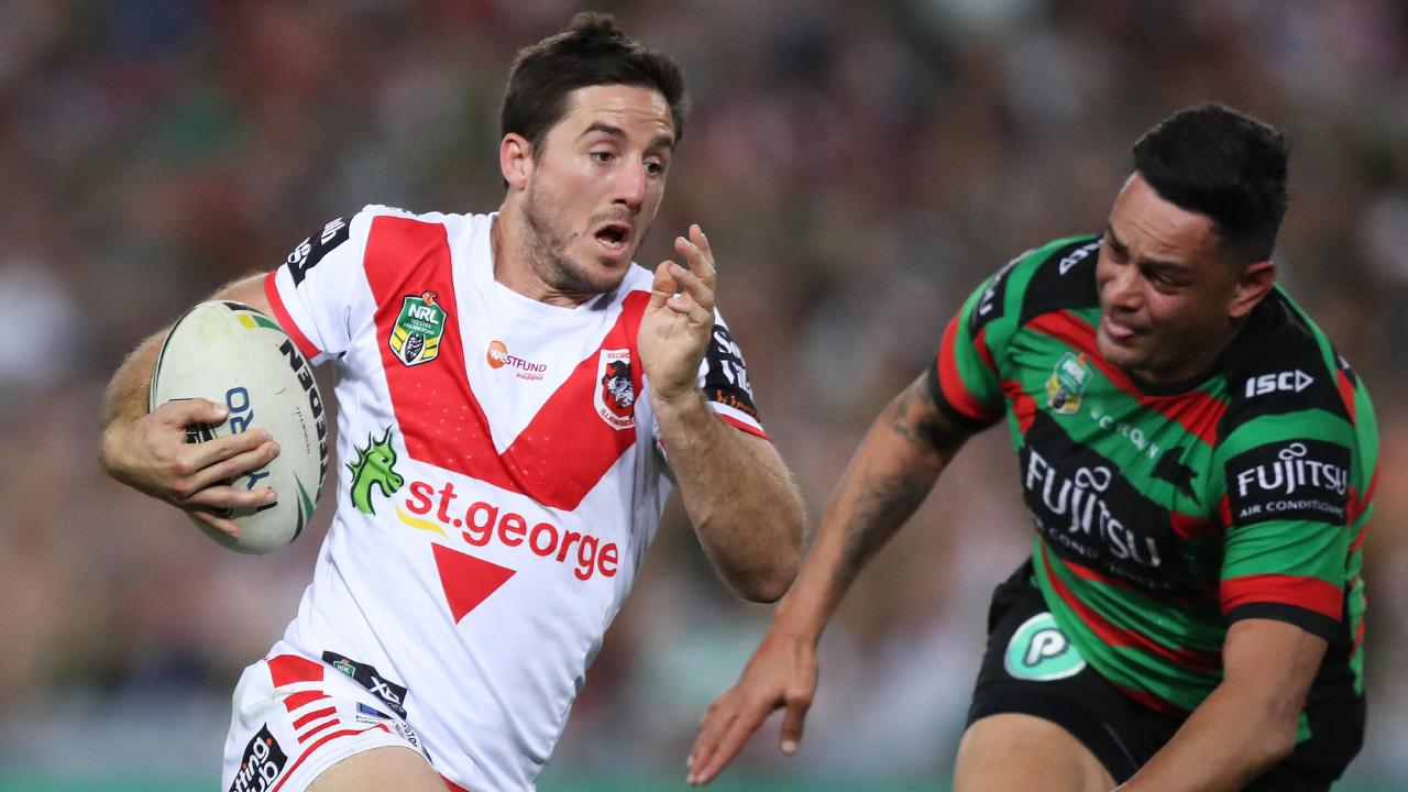 Ben Hunt was the Origin whipping boy last year but starred for the Dragons. Picture: Brett Costello