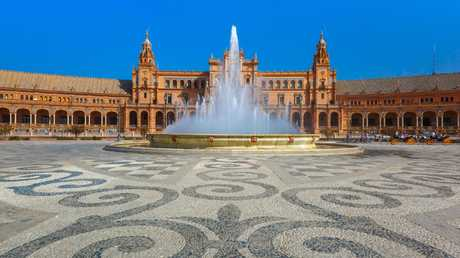 Seville's Plaza de Espana came in at 99, making it the best spot on the list.