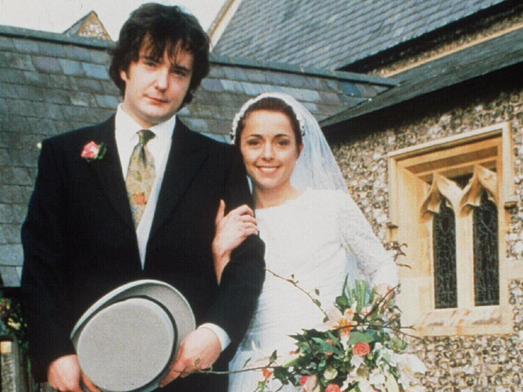 Charlotte Coleman and co-star Dylan Moran in TV series How Do You Want Me?