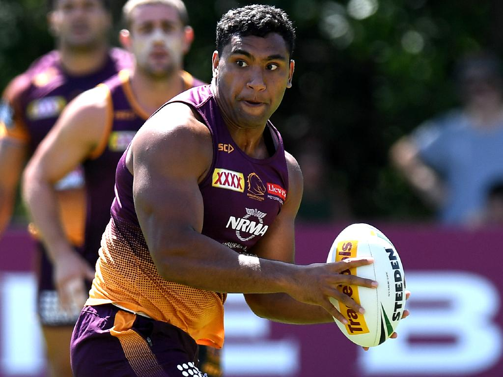 Tevita Pangai Jr has been cut by Guy Feeney. Picture: Bradley Kanaris/Getty Images
