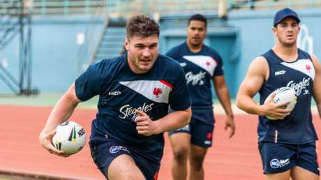 Angus Crichton has been named on the bench for the Roosters. Picture: Roosters Digital.