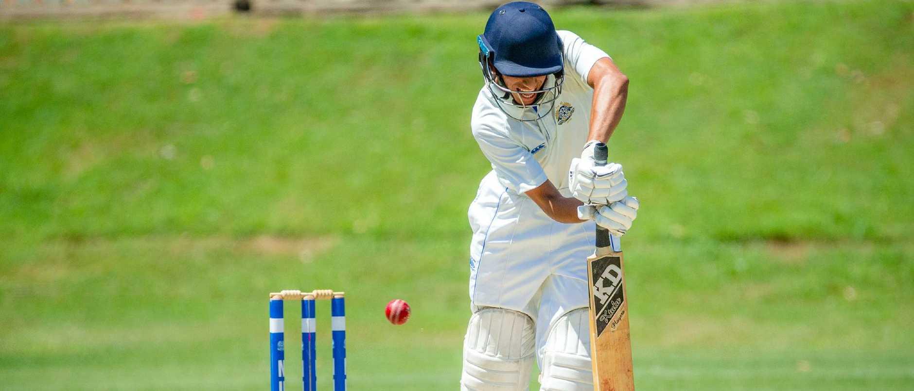 Nudgee batsman Vidur Seghal.                                  (AAP Image/Richard Walker)