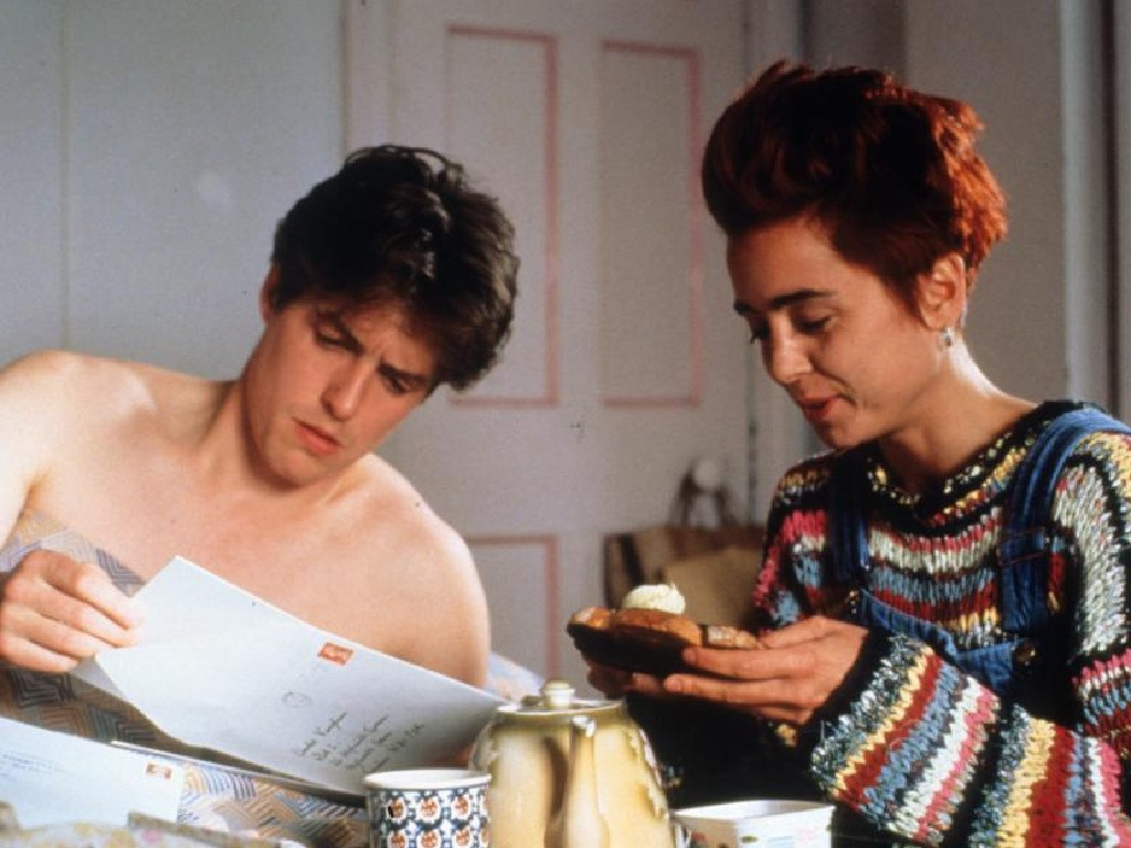 Charlotte Coleman played Hugh Grant's quirky flatmate, Scarlet, in Four Weddings.