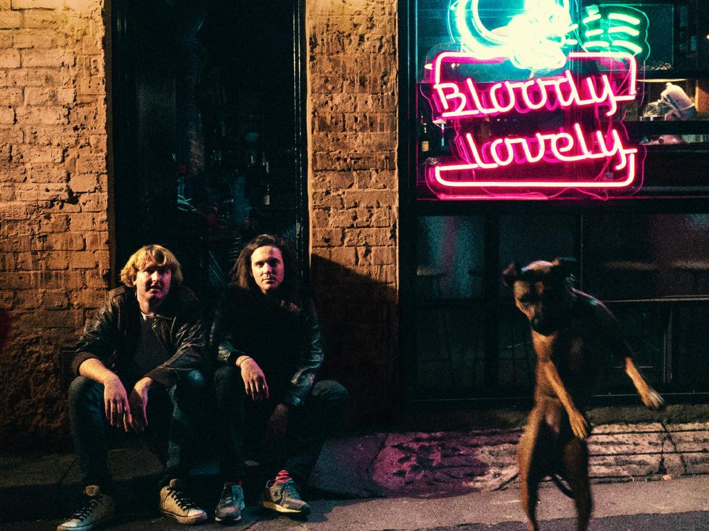 The album cover of DZ Deathrays' latest record 'Bloody Lovely'.