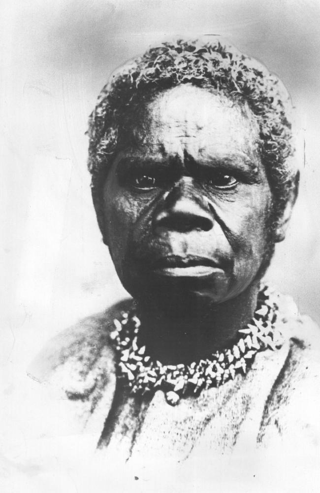 The fierce , intelligent gaze of Truganini, last of the Tasmanians.