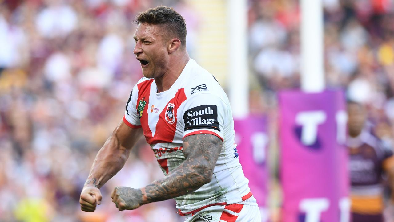 Tariq Sims destroyed the Broncos in the finals. Picture: Dave Hunt