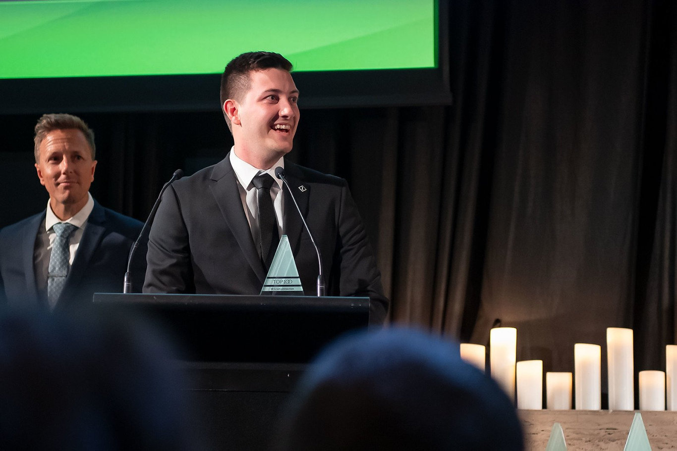 Mitchell Lawler received the award in Sydney.