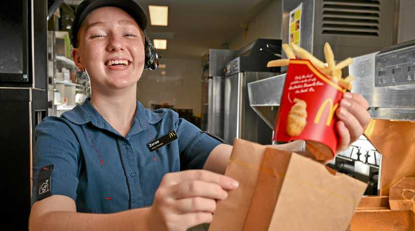 McDonald's Augustine Heights crew trainer Zanae Sanders enjoys the flexibility that the job provides.