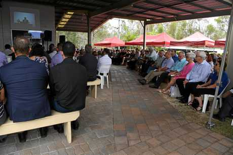 Hundreds of people attended the funeral of Lance Cislowski at Gin Gin Community Church on Saturday.