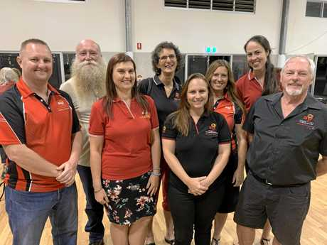 Matt Brady (with beard), surrounded by some of the Sunshine Coast's school chaplains.