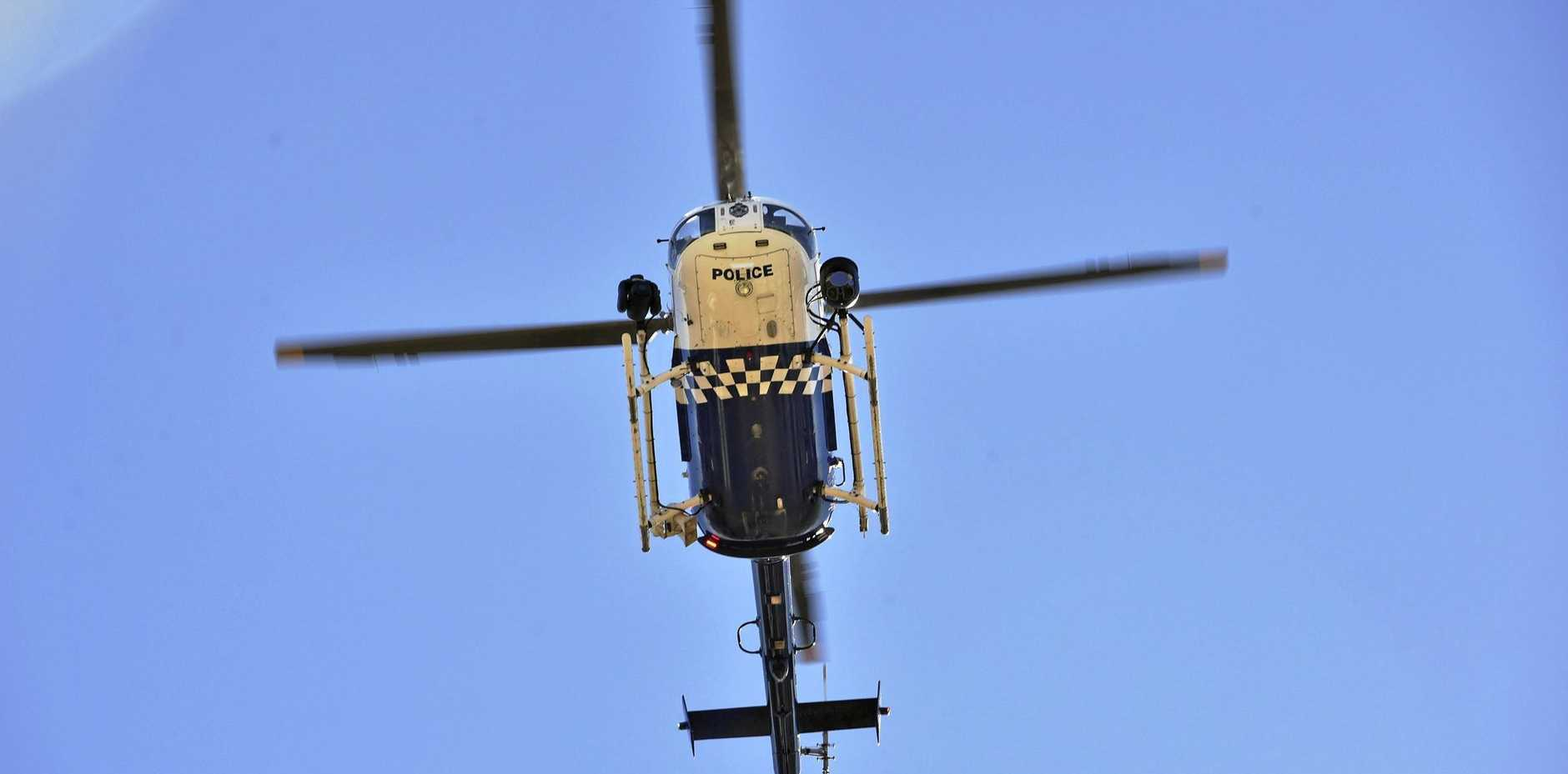 Polair was called in to help search for an 18-year-old man who went missing from Mt Mellum.