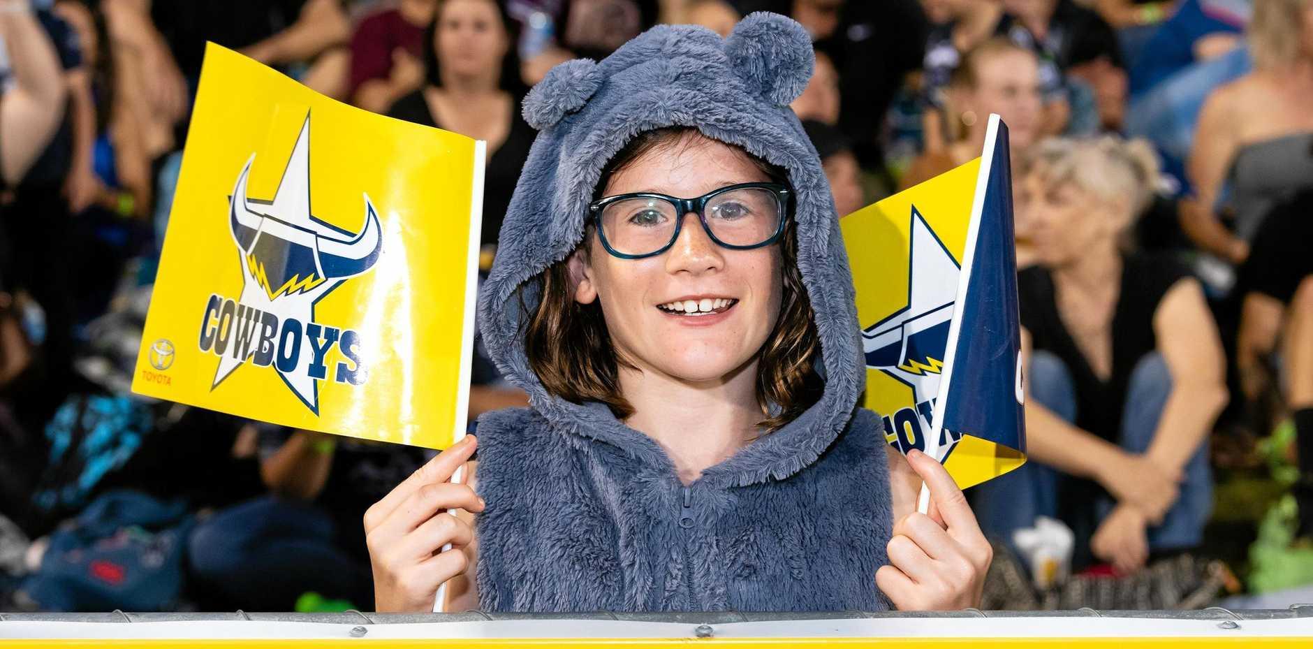 Cowboys fan Sienna Gilbert, 10.