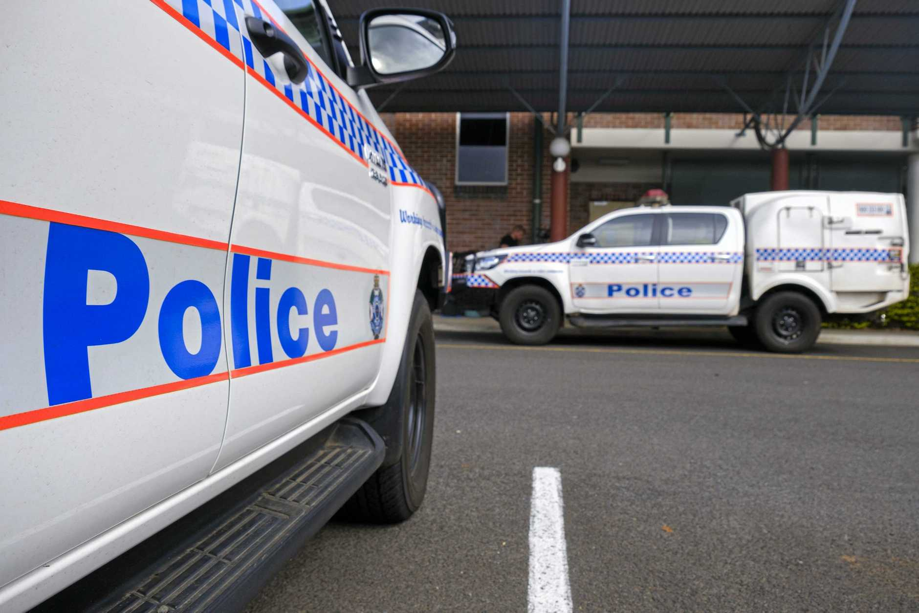 The 39-year-old man was secured in the caged truck and taken to Lismore Police Station.