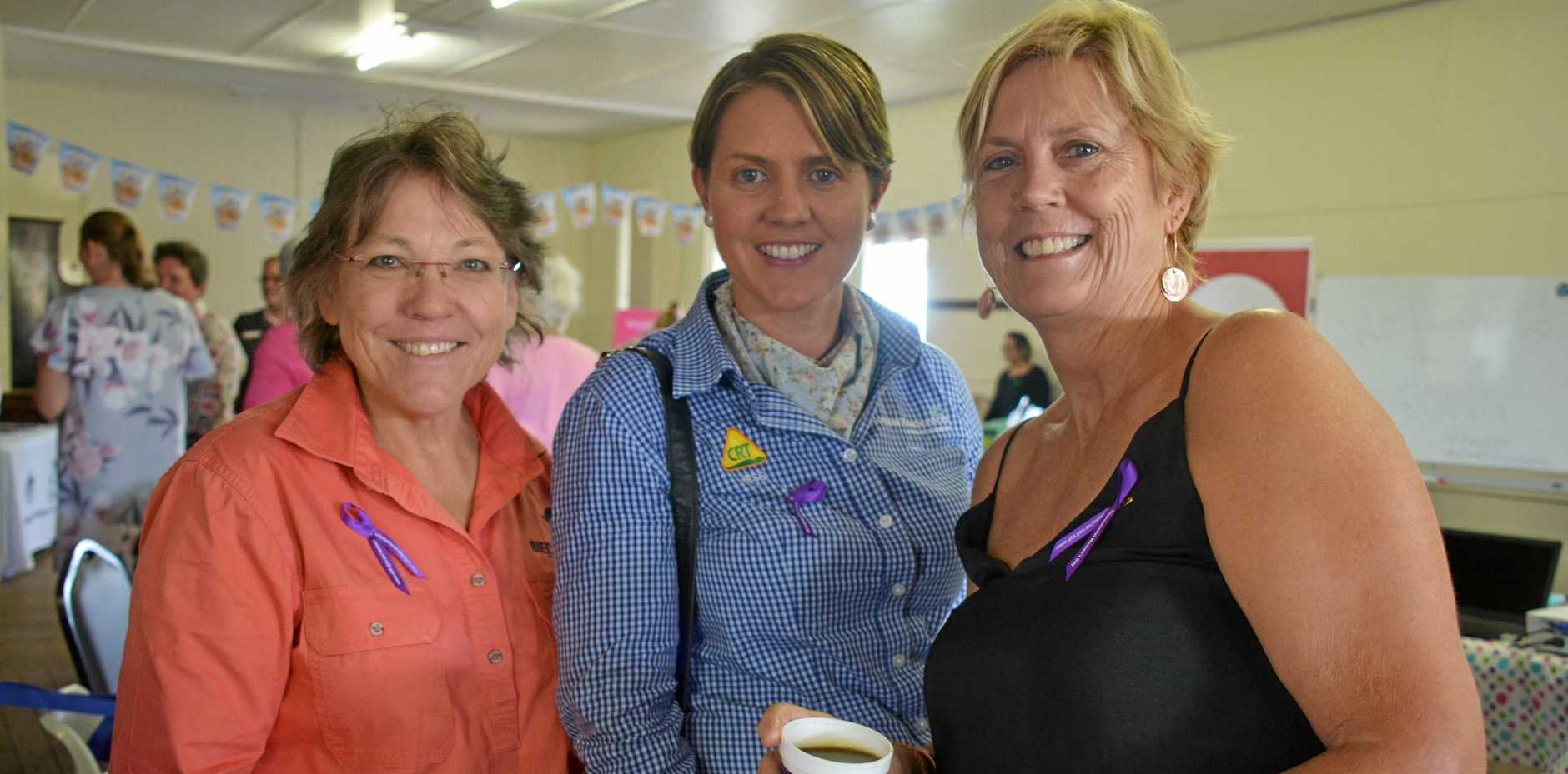 Karen Seiler, Jess Bargenquast and Sue Payne at the Burnett Inland's Women in Ag Day in Durong on March 3.