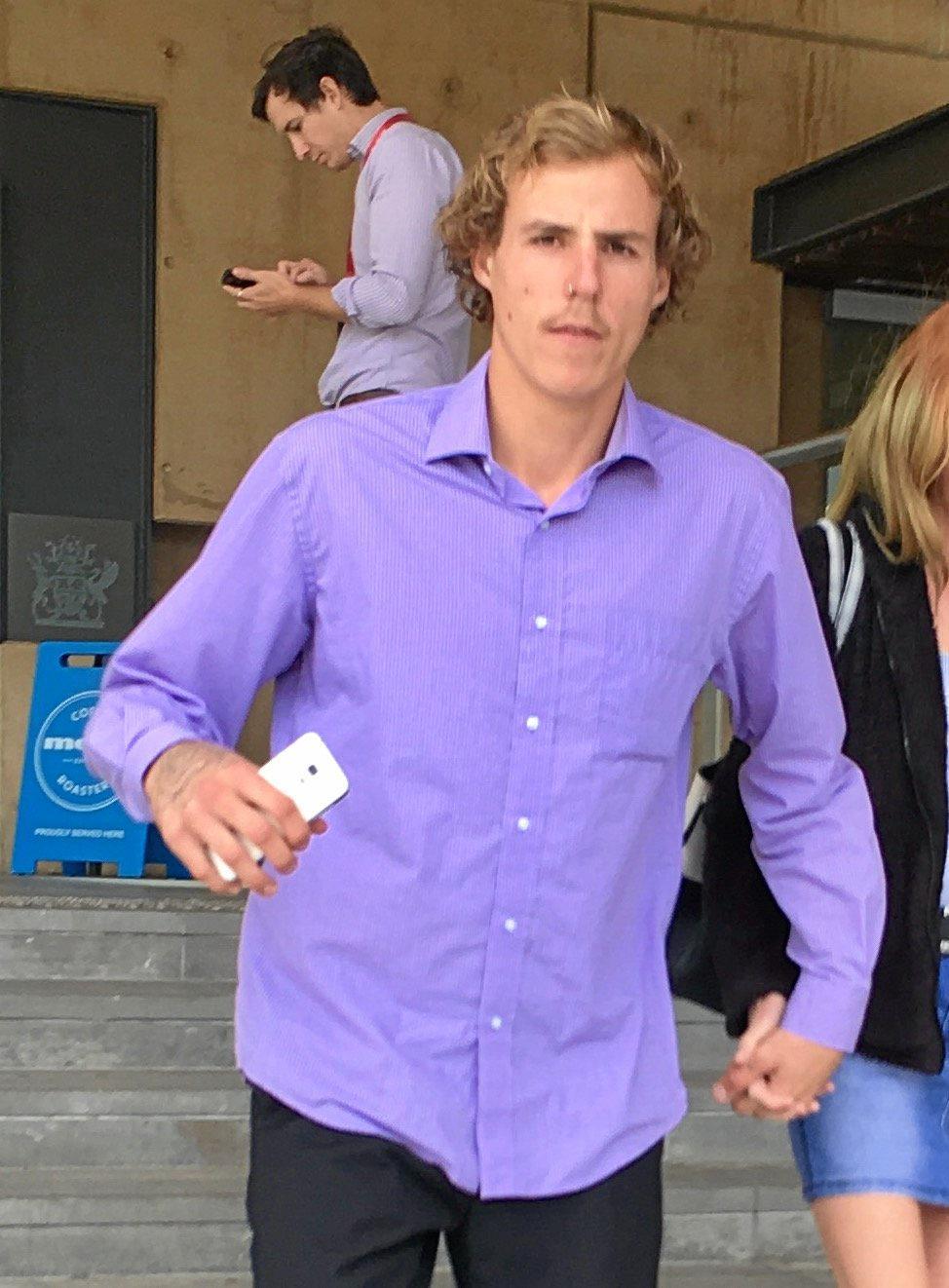 REAL CRIM: Jarrod Edwards leaves Ipswich court on Friday .