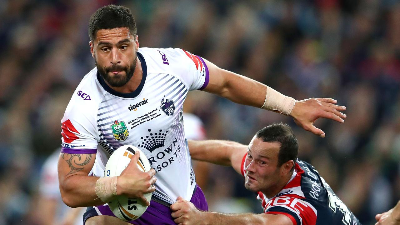 Jesse Bromwich is still the main man at prop for the Storm but he needs to recapture his best. Picture: Cameron Spencer