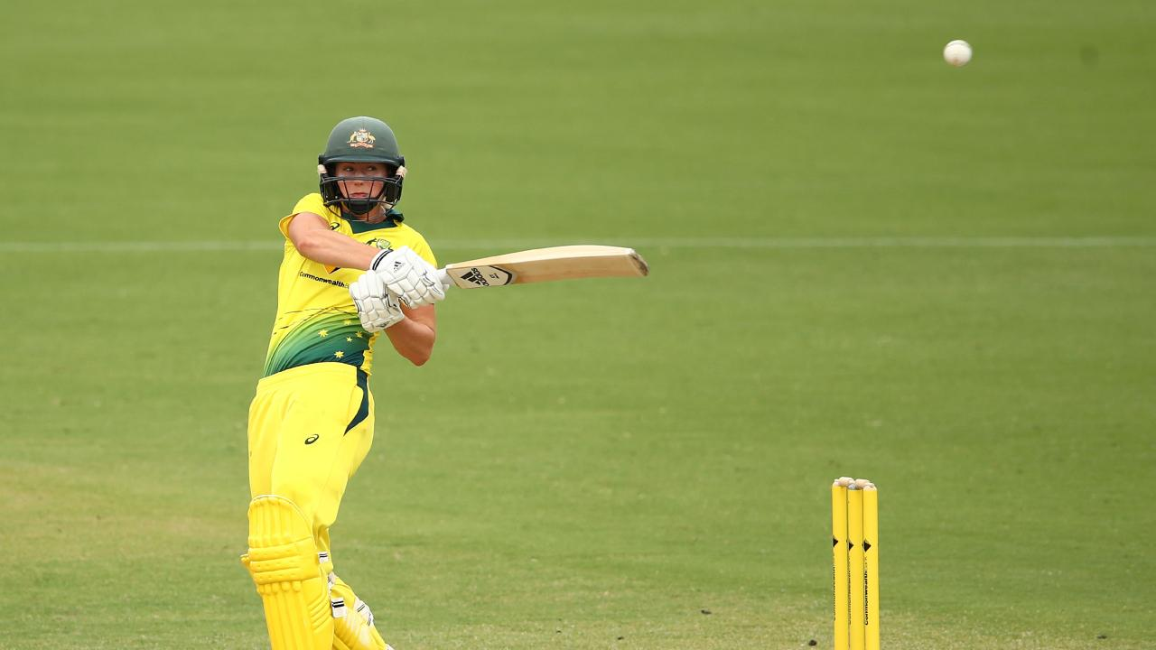 Ellyse Perry again topscored for the home side. Picture: Getty