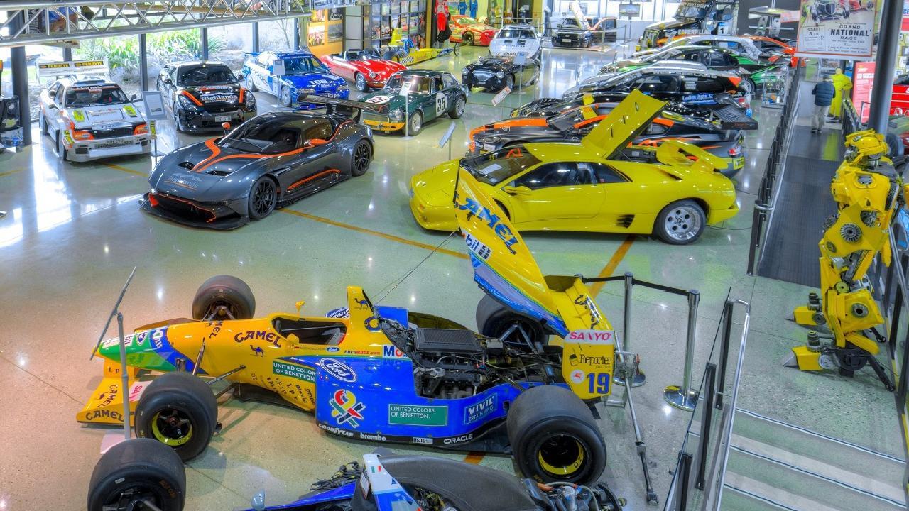 Highlands Museum: Michael Schumacher's B191 Benetton, foreground