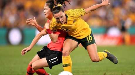 Hayley Raso played a big part in the Matildas victory.