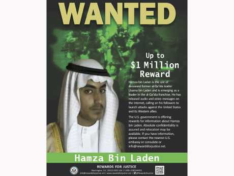 The wanted poster released by the U.S. Department of State Rewards for Justice program.