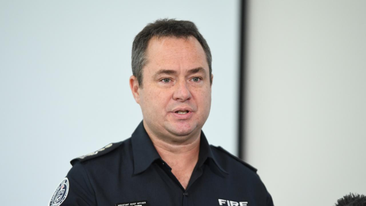CFA Assistant Chief Officer Trevor Owen addresses the media. Picture: AAP Image/James Ross
