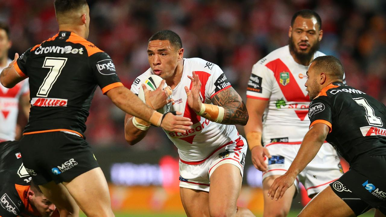 Tyson Frizell showed he belongs in the representative arena with an excellent 2018. Picture: Jason McCawley