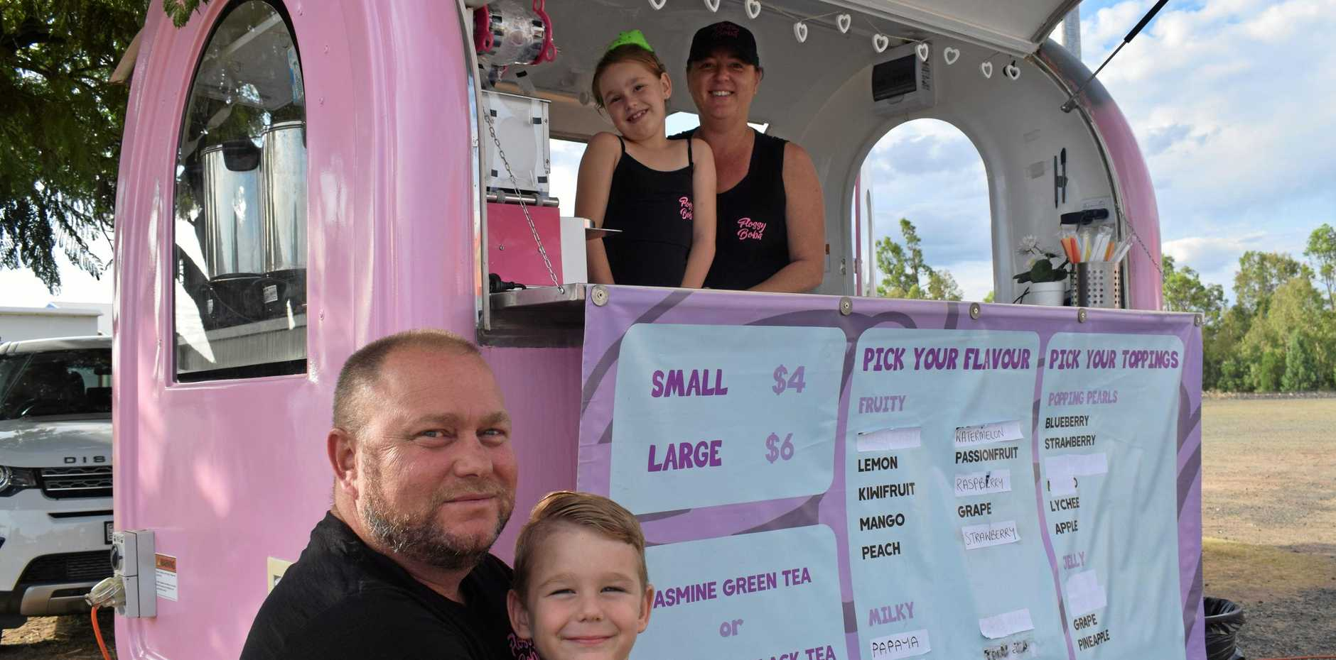 TEA TIME: Jimmy, James, and Arijana Jones, and Annie Simunic are the proud owners of Chinchilla's own bubble tea van - Flossy Boba.