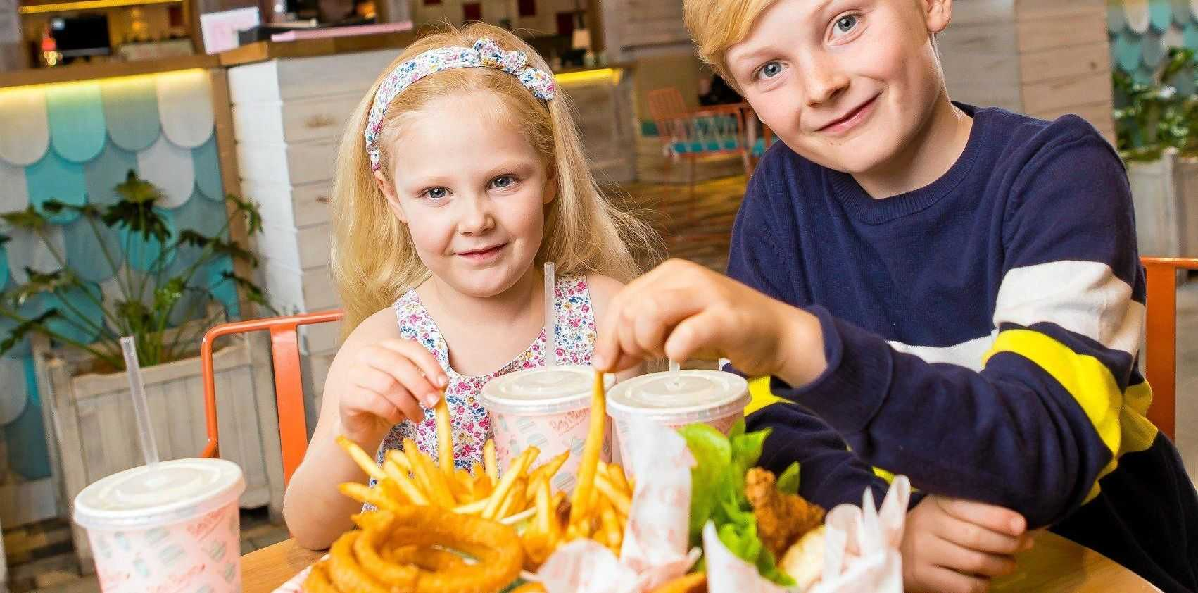 FAMILY FUN: Audrey and Darcy Thompson enjoying dinner at Betty's Burgers Grand Central.
