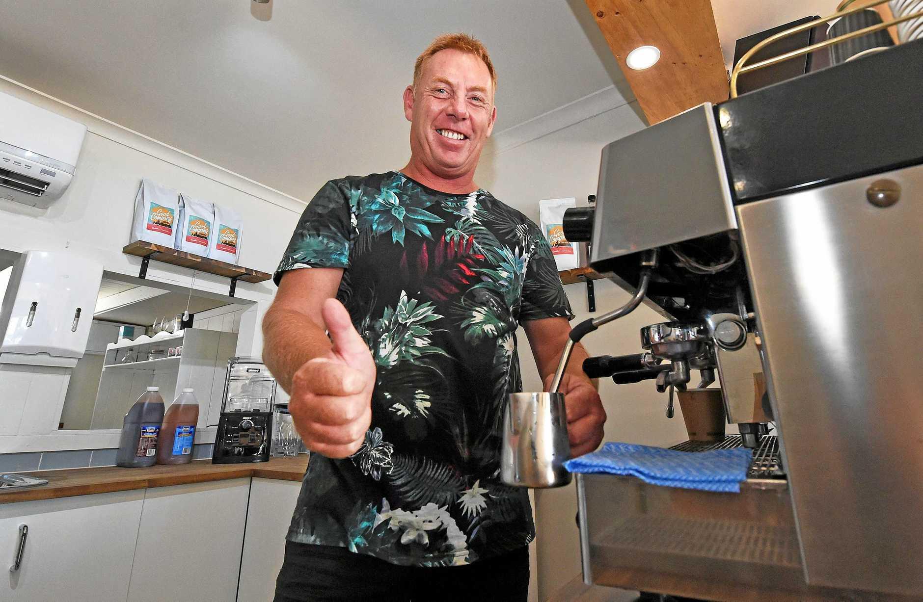 ENJOYING LIFE: Craig Fletcher from Brewed Awakening at Scarness.