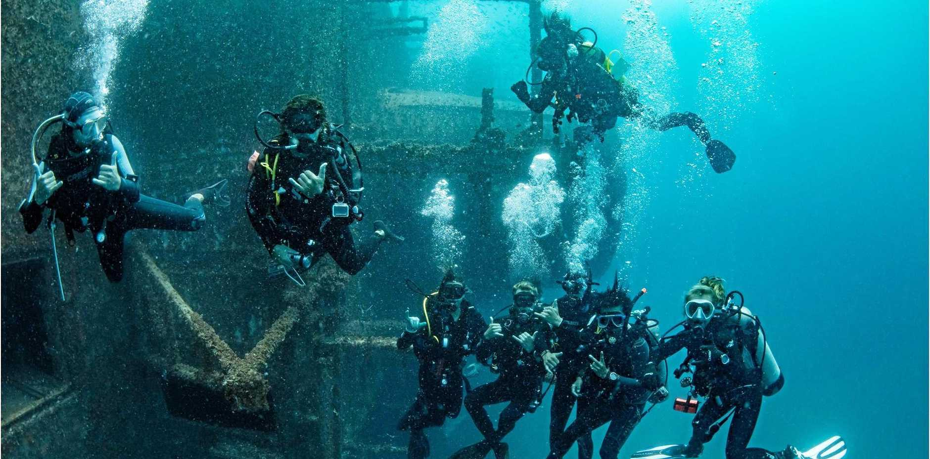 UP CLOSE WITH THE TOBRUK: Local photographer Tracy Olive has had a stunning up-close encounter with ex-HMAS Tobruk while it lies on the sea floor.