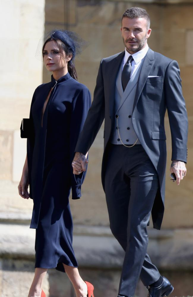 David and Victoria Beckham have played a hand in other private trips Meghan has taken to the US. Picture: Getty Images