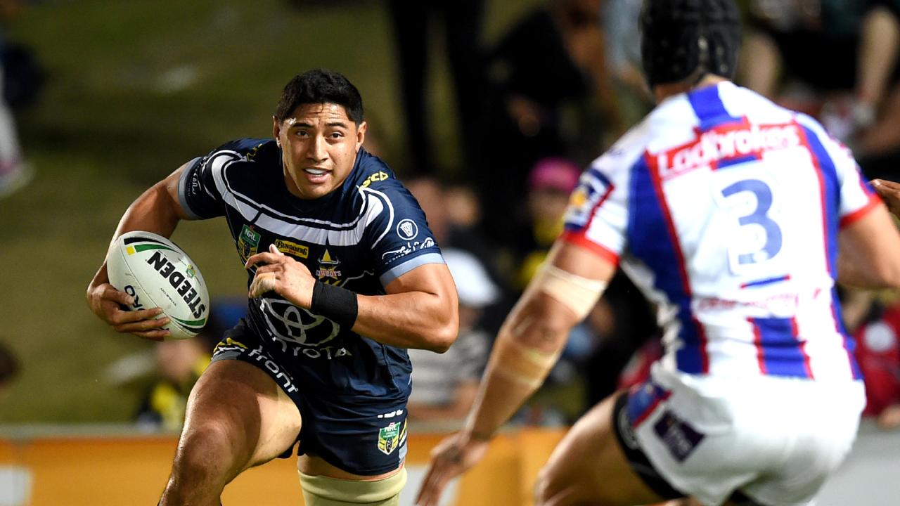 Jason Taumalolo is a terrifying sight when he gets a run on. Picture: Alix Sweeney