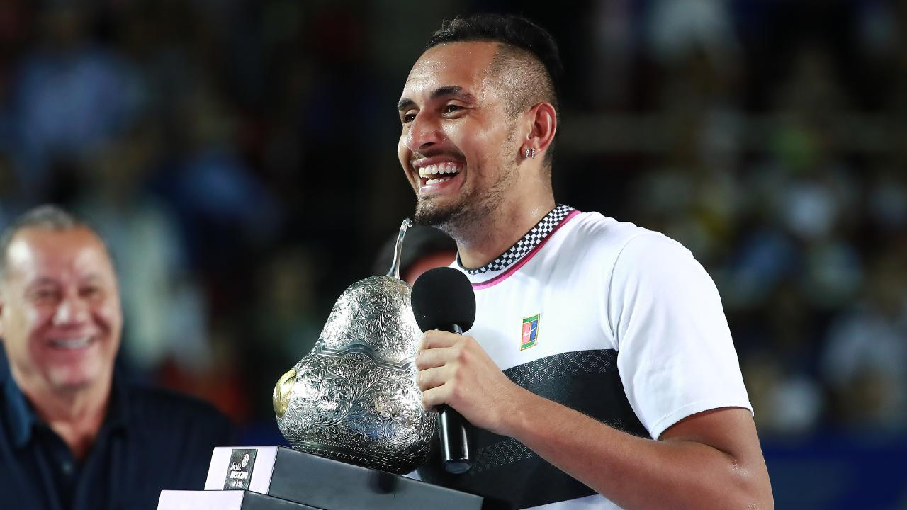 Nick Kyrgios dismantled Alex Zverev for the loss of just seven games in Mexico.
