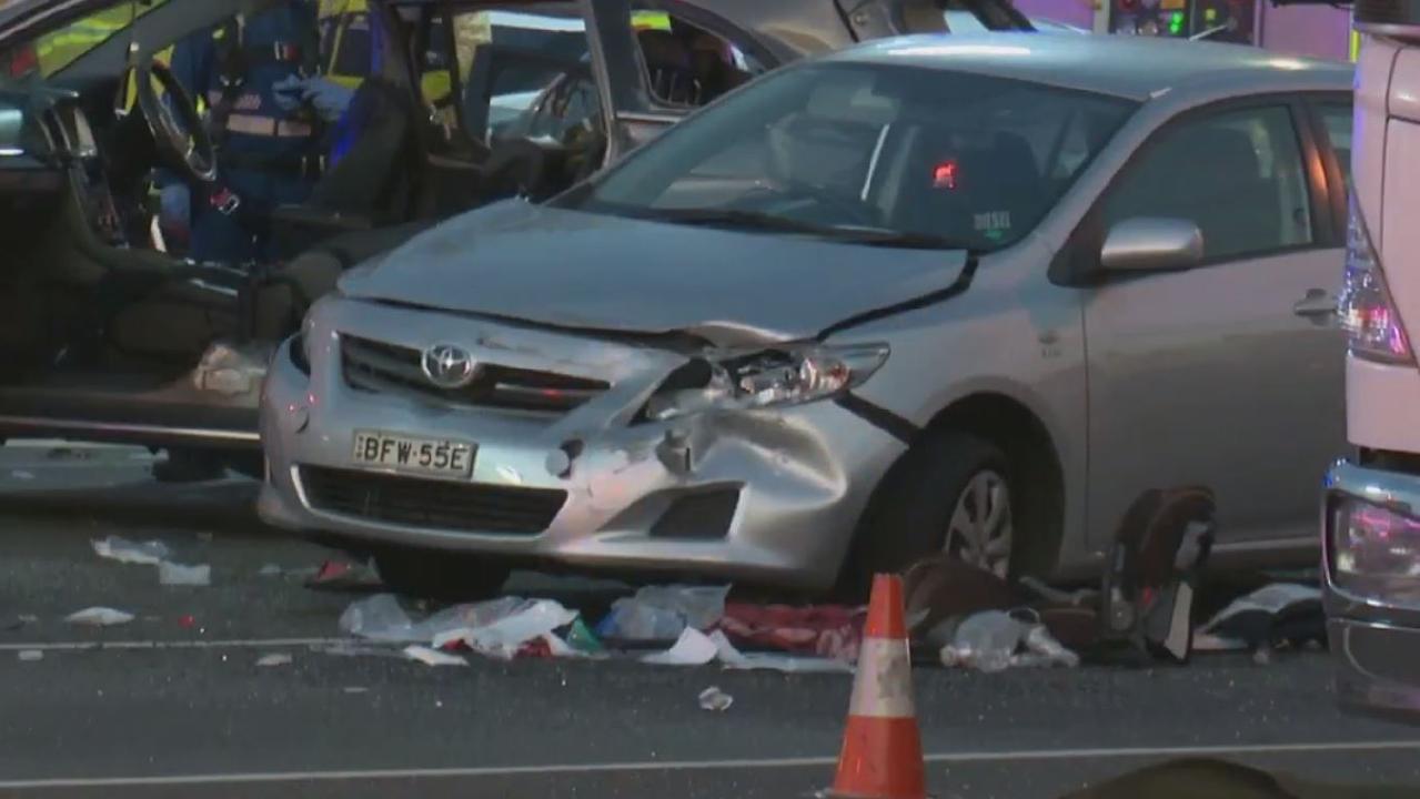 Responders at the scene of the fatal crash in Baulkham Hills last Saturday. Picture: TNV/Jason Webster