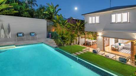 AFTER: The back of the home at 64 Alma St, Paddington, after it was renovated. Picture supplied by Ray White.