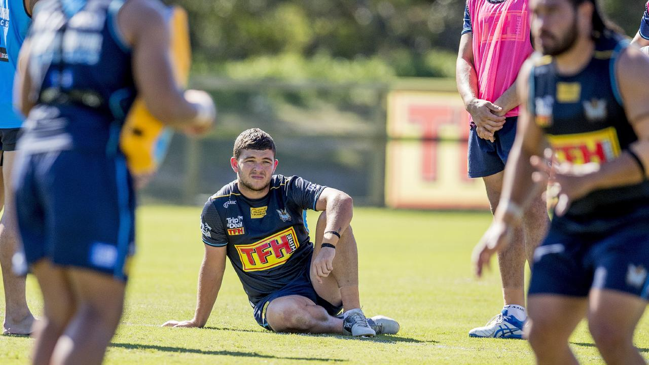 Titans training session at Parkwood. Ash Taylor. Picture: Jerad Williams