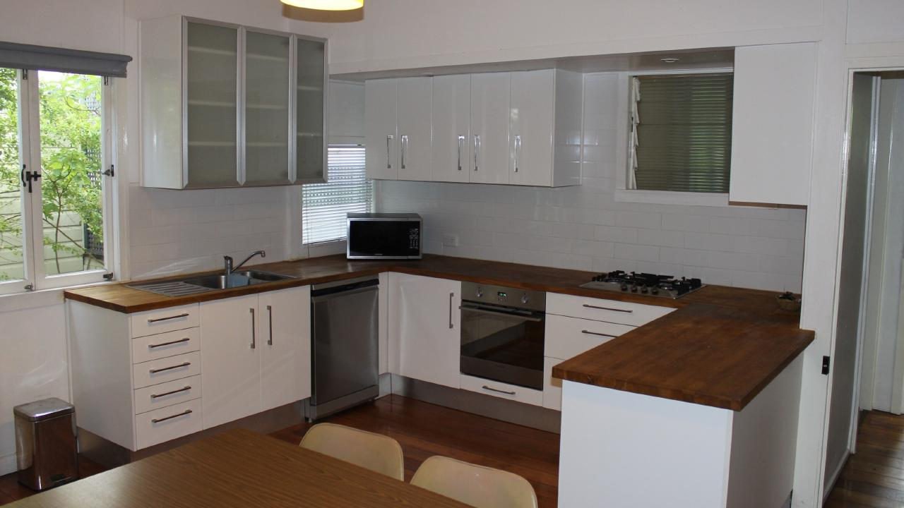 BEFORE: The kitchen in the home at 64 Alma St, Paddington, before it was renovated. Picture supplied by Ray White.