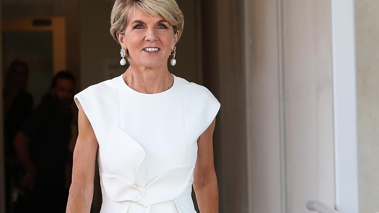 Julie Bishop after announcing her intention to quit politics. Picture: Kym Smith