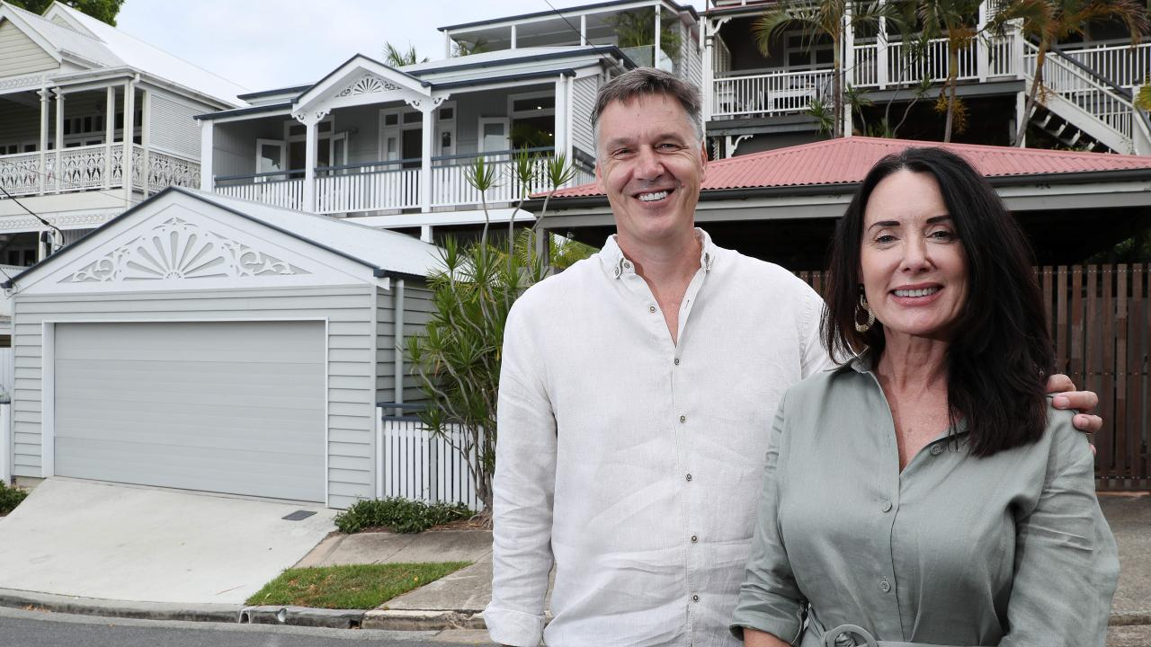Helen and Craig Seitam at their renovated house at 64 Alma St, Paddington, which is now for sale. Photographer: Liam Kidston.